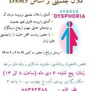 آشنایی با ملال جنسیتی بر اساس DSM-5 با حضور ریاست انجمن تراجنسیتی های ایران