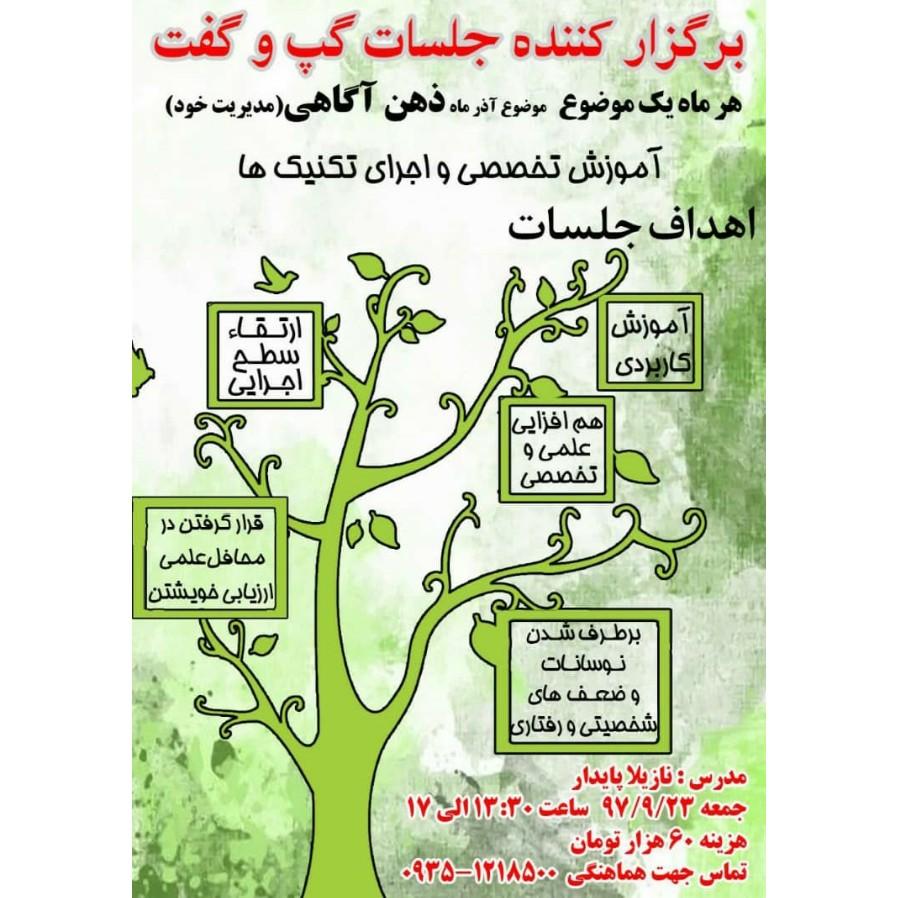 کارگاه روانشناسی ذهن آگاهی(مدیریت خود) در تهران