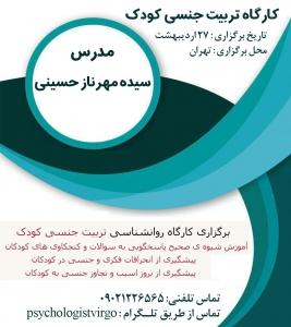 کارگاه تربیت جنسی کودکان در تهران