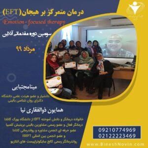 کارگاه درمان متمرکز بر هیجان ( EFT)